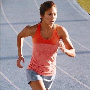 Athleta fast track tank orange raunched sz XS EUC